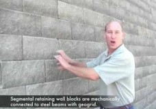 Shoring Wall with Segmental Block Face