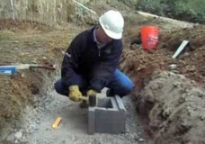 Retaining Wall Base Course Installation
